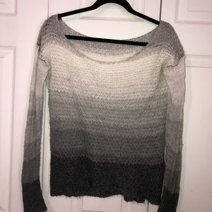 Sweaters - Grey, black, white slouchy sweater